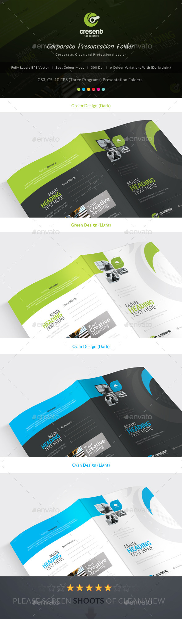 GraphicRiver Cresent Corporate Presentation Folder 10619638
