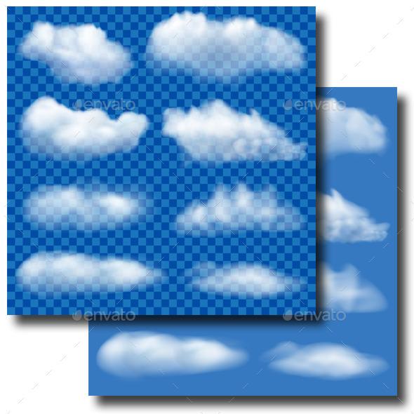 GraphicRiver Set of Transparent Clouds 10619764