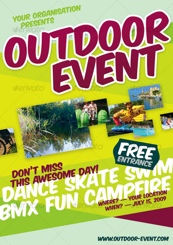 Outdoor Event Flyer - Miscellaneous Events