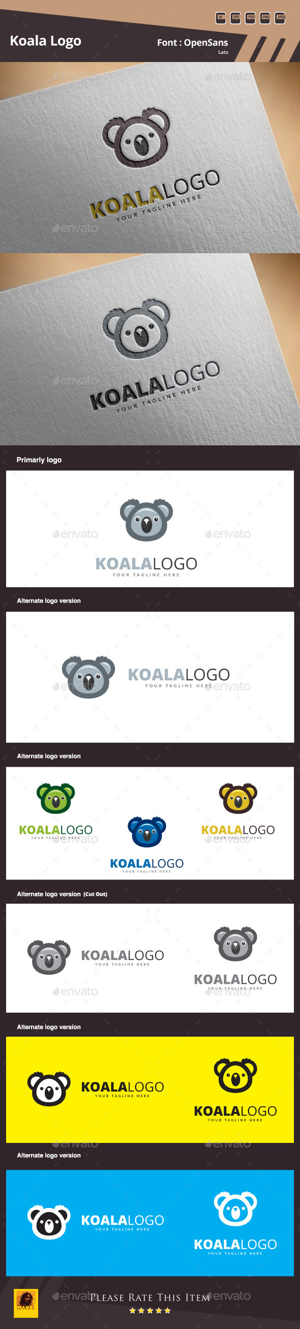 GraphicRiver Koala Logo Template 10620140