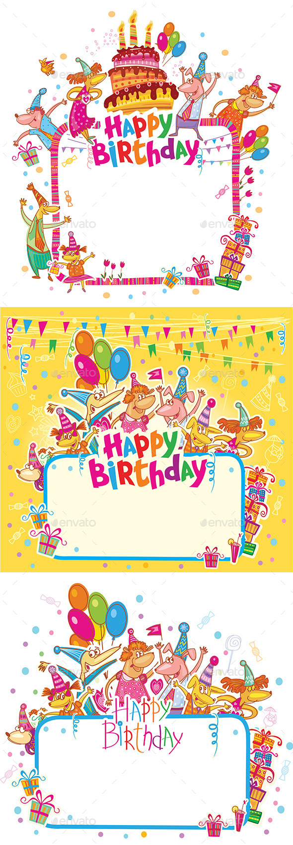 GraphicRiver Happy Birthday Cards 10620166