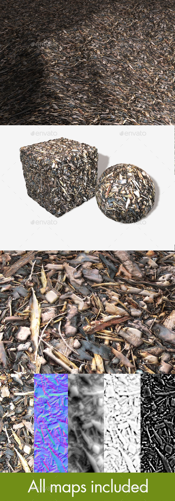 Garden Bark Seamless Texture - 3DOcean Item for Sale