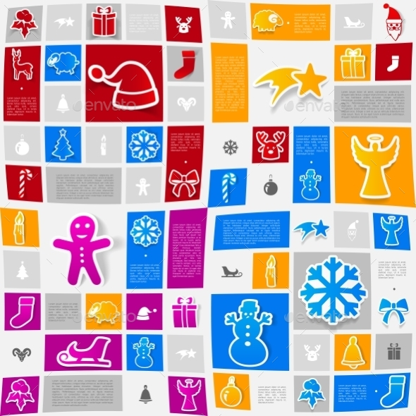GraphicRiver Christmas Sticker Infographic 10620381