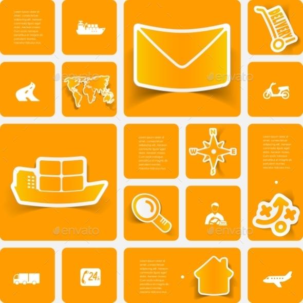 GraphicRiver Delivery Sticker Infographic 10620389