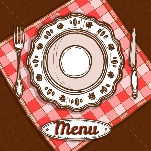 GraphicRiver Menu With Porcelain Plate 10620438