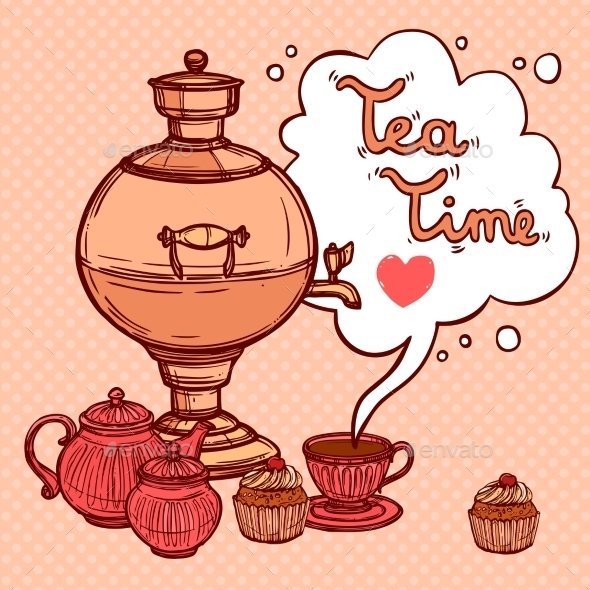 GraphicRiver Tea Background With Samovar 10620441