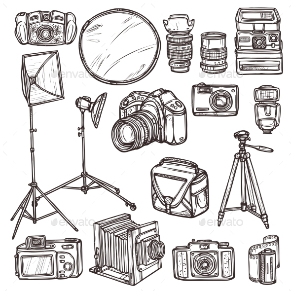 GraphicRiver Camera Icons Set 10620450