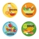 Healthy Eating Flat Icons - GraphicRiver Item for Sale
