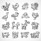 Farm Animals Sketch - GraphicRiver Item for Sale