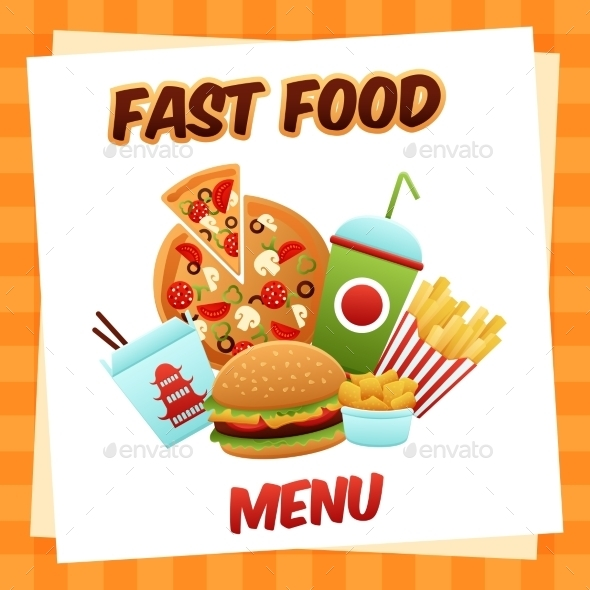 GraphicRiver Fast Food Menu 10620670
