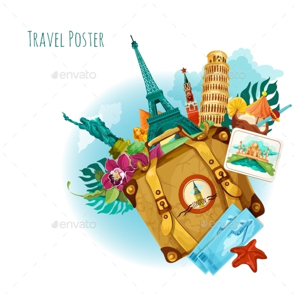 GraphicRiver Landmarks Travel Background 10620769