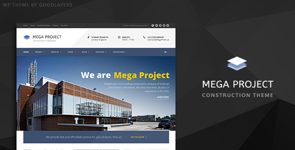 ThemeForest Mega Project Construction Company WP Theme 10620770