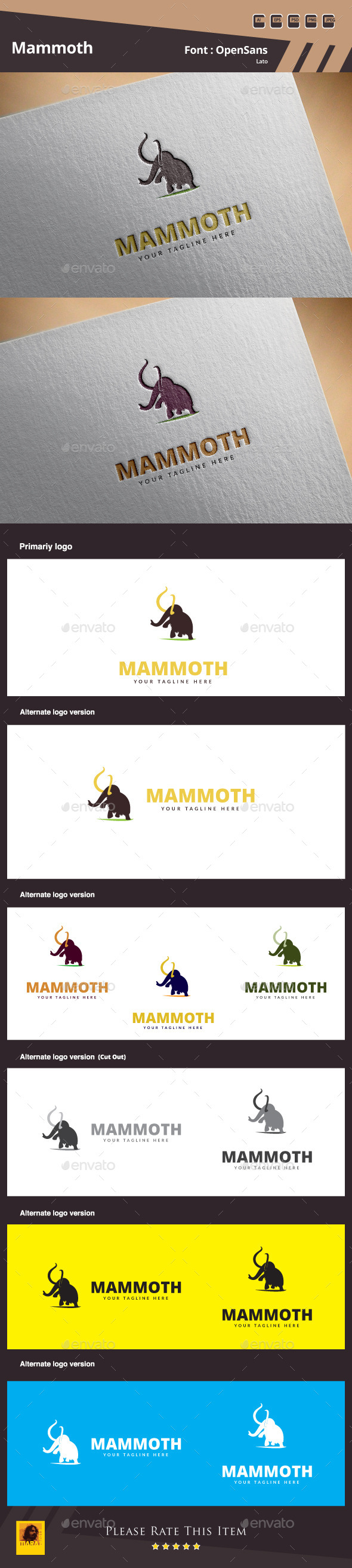 GraphicRiver Mammoth Logo Template 10620778