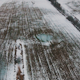 Flying Over Winter Agricultural Fields - VideoHive Item for Sale