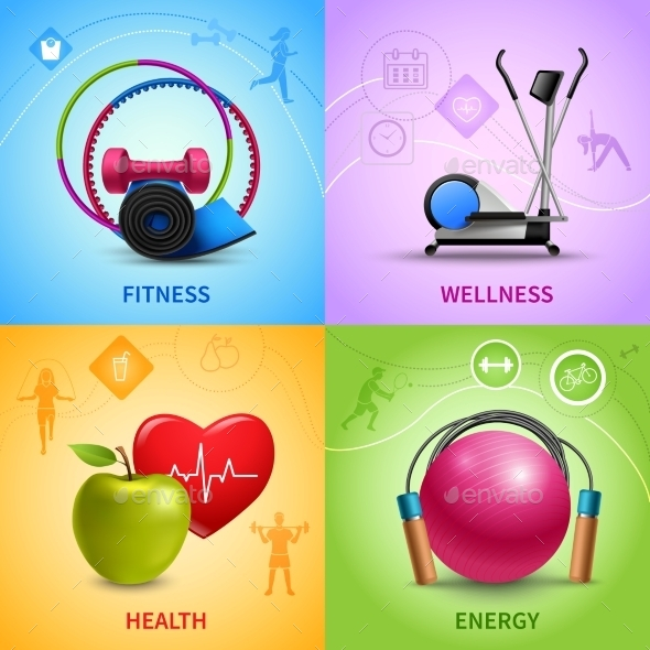 GraphicRiver Fitness Icons Set 10621213
