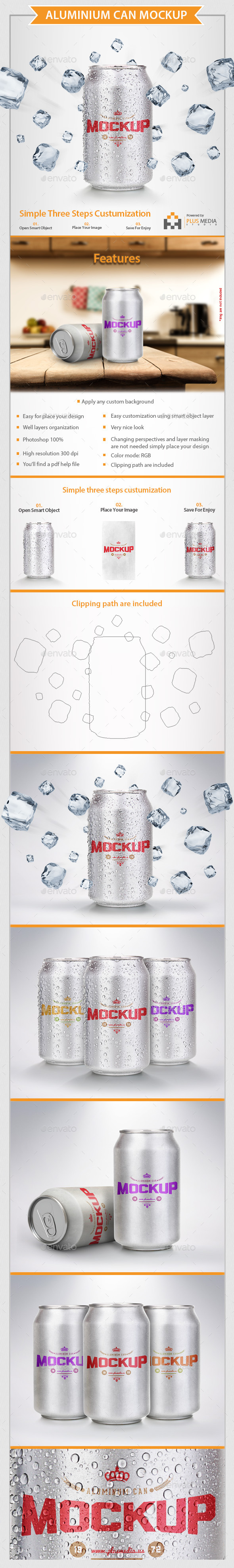 GraphicRiver Aluminium Can Mock-Up 10621267