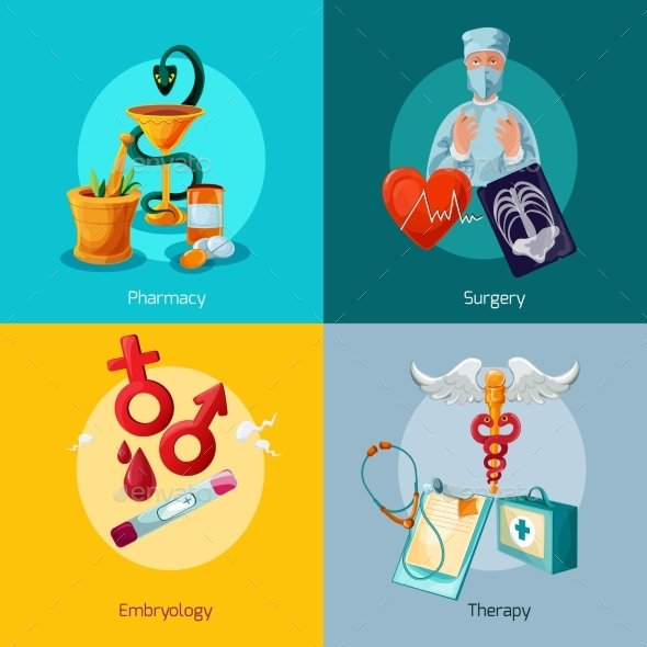 GraphicRiver Medical Icons Set 10621317