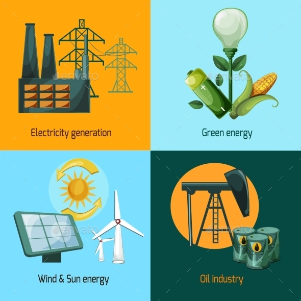 GraphicRiver Energy Icon Set 10621320