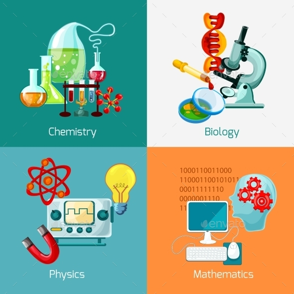GraphicRiver Science Icons Set 10621334