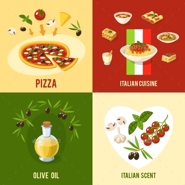 GraphicRiver Italian Food Design Concept 10621399
