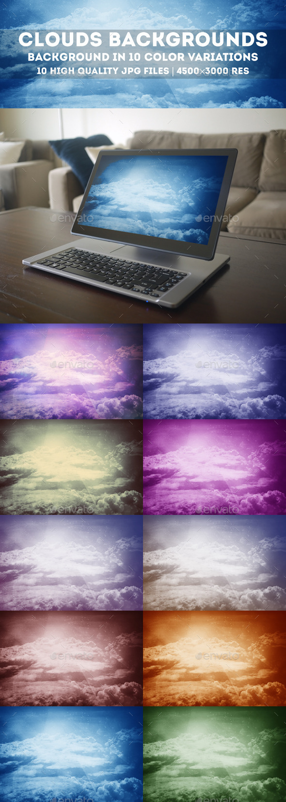 GraphicRiver Sky Clouds Abstract Backgrounds 10621407