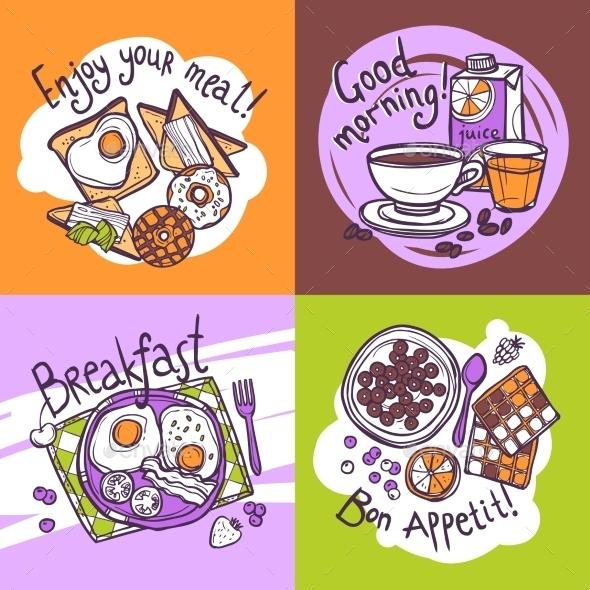 GraphicRiver Breakfast Design Concept 10621419