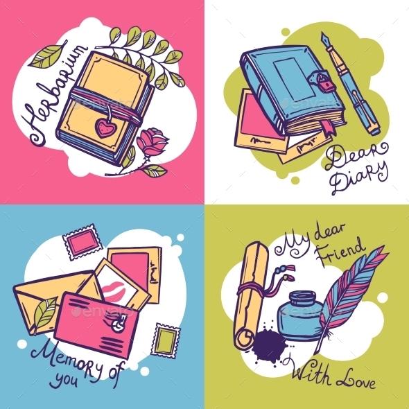 GraphicRiver Diary Design Concept 10621437