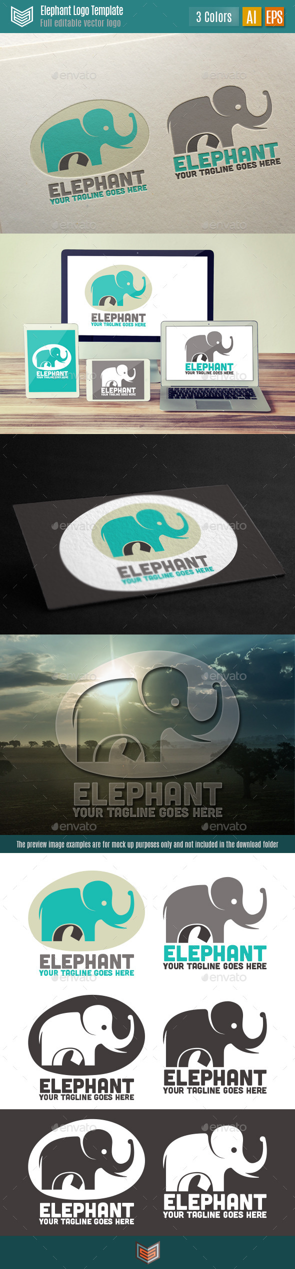 GraphicRiver Elephant Logo 10621476