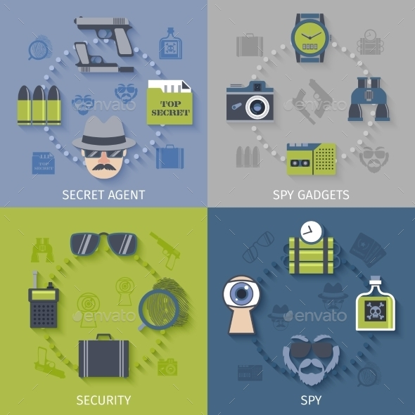 GraphicRiver Spy Gadgets 10621495