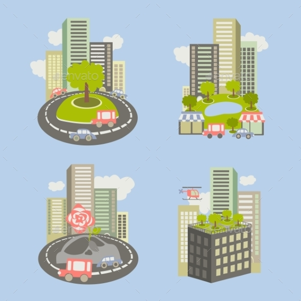 GraphicRiver City and Nature Icons 10621522