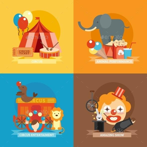 GraphicRiver Circus Flat Set 10621581