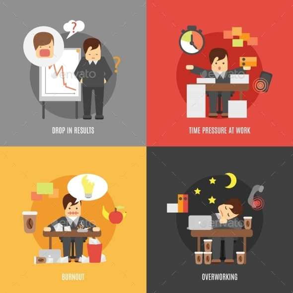 GraphicRiver Stress at Work Concepts 10621583