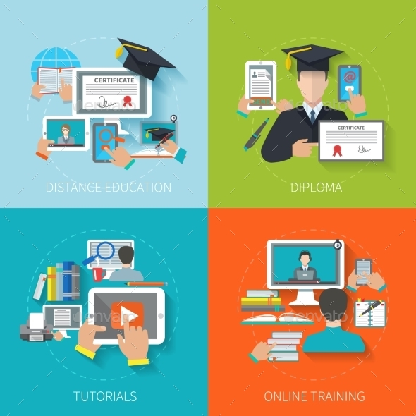 GraphicRiver Online Education Flat 10621609