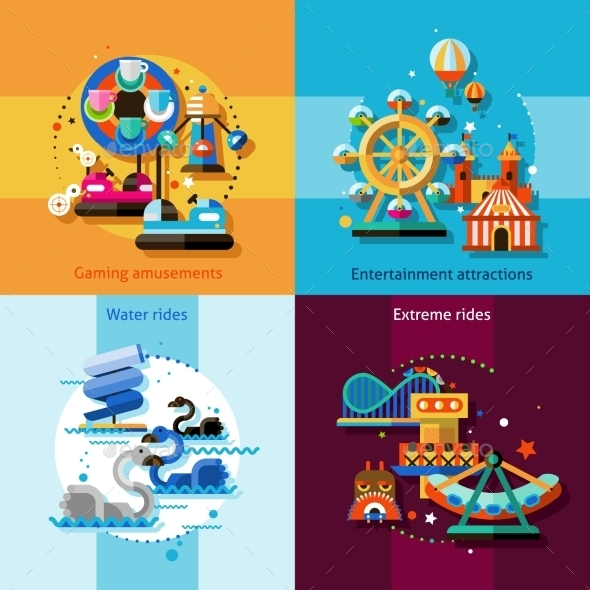 GraphicRiver Amusement Design Concept Set 10621644
