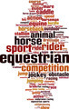 Equestrian Word Cloud Concept - PhotoDune Item for Sale