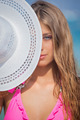 woman on vacation with sunhat - PhotoDune Item for Sale