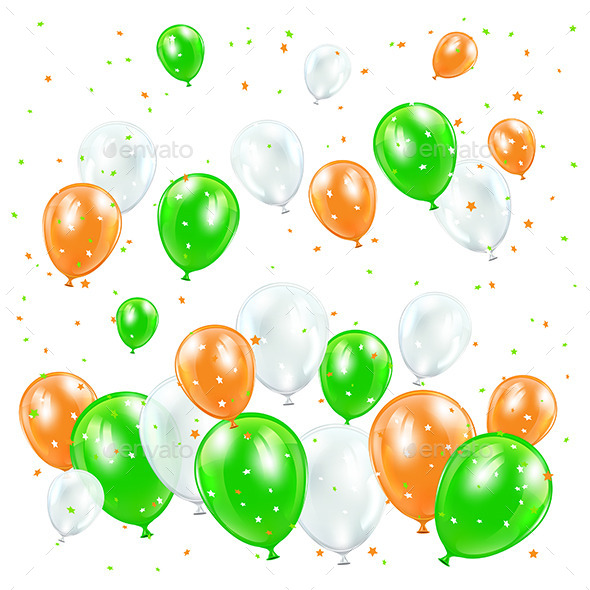 GraphicRiver Patricks Day Balloons 10622158