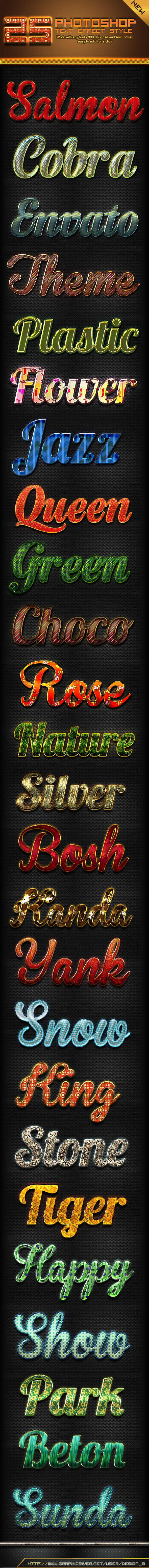 GraphicRiver 25 Photoshop Text Effect Styles 10622361