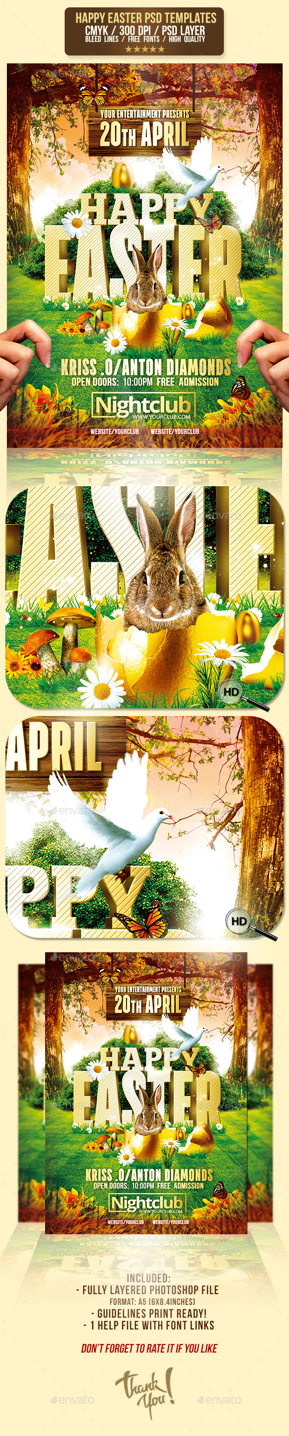 GraphicRiver Happy Easter Event Psd Flyer Template 10560184