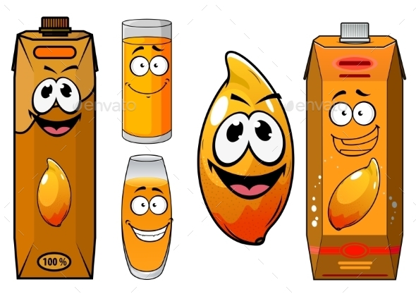 GraphicRiver Fresh Mango Juice Characters 10622434