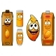 Fresh Mango Juice Characters  - GraphicRiver Item for Sale