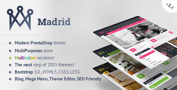 Madrid - Modern PrestaShop Theme with Customizer