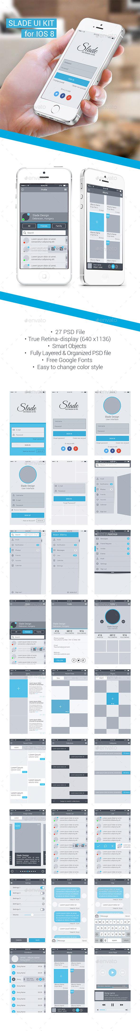 GraphicRiver Slade UI Kit For IOS 8 10622582