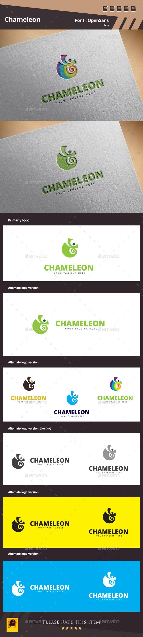 GraphicRiver Chameleon Logo Template 10622717