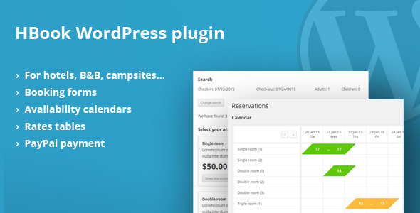CodeCanyon HBook Accommodation booking plugin for WordPress 10622779