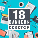 Set of Flat Design Workspace Concepts - GraphicRiver Item for Sale