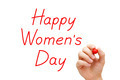 Happy Womens Day Red Marker - PhotoDune Item for Sale