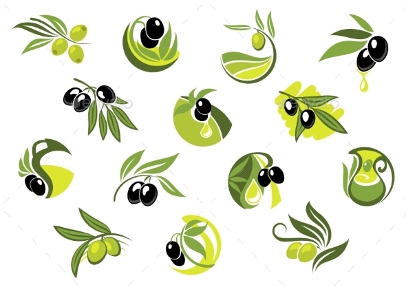 GraphicRiver Olive Branches 10623096