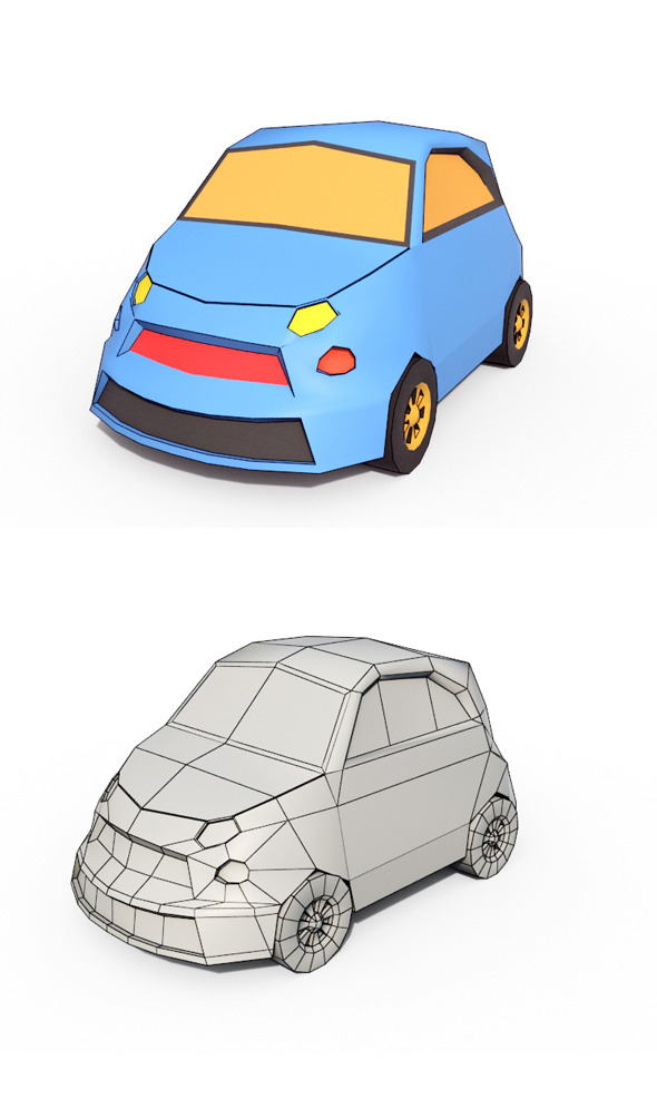 3DOcean Low Poly Cartoon Car 3 10623100