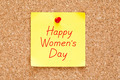 Happy Womens Day Sticky Note - PhotoDune Item for Sale